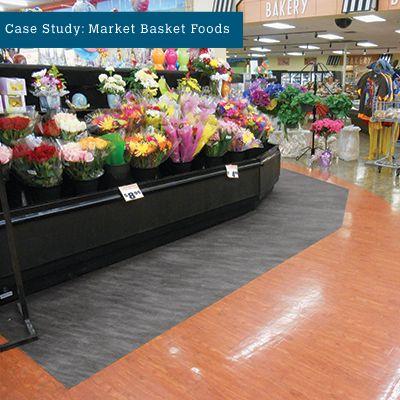 PIG Grippy Floor Mat Preventing Slips & Trips around Supermarket Floral Display