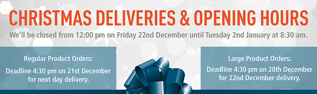 Christmas Deliveries & Opening Hours