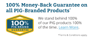 100% Money-Back Guarantee on all PIG-Branded Products.
