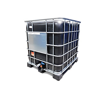 Black IBC with Plastic Pallet