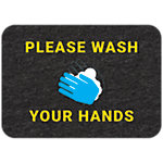 PIG® Grippy® Wash Your Hands Floor Sign – Single Mat