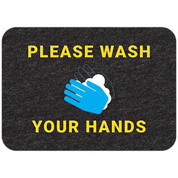 PIG® Grippy® Wash Your Hands Floor Sign – Single Mat