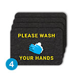 PIG® Grippy® Wash Your Hands Floor Sign – Box of 4