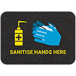 PIG® Grippy® Sanitise Hands Here Floor Sign – Single Mat