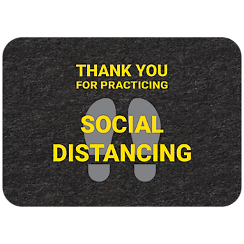 PIG® Grippy® Social Distancing Floor Sign – Single Mat