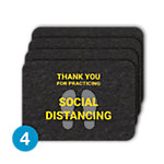 PIG® Grippy® Social Distancing Floor Sign – Box of 4