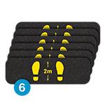 PIG® Grippy® Social Distancing Floor Sign & Marker – Box of 6