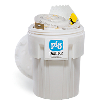 PIG® Oil-Only Spill Kit in a 360 Litre Overpack Drum