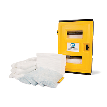 PIG® Essentials Weatherproof Cabinet Oil-Only Spill Kit