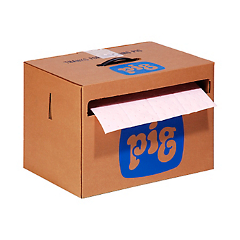 PIG® Rip-&-Fit® HazMat Mat Roll in Dispenser Box