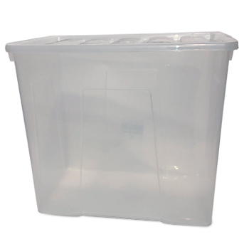 160 Litre Super Large Crystal Plastic Storage Boxes with Lid