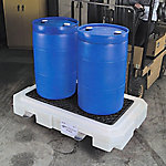 PIG® Heavy-Duty 2-Drum Poly Spill Containment Pallet