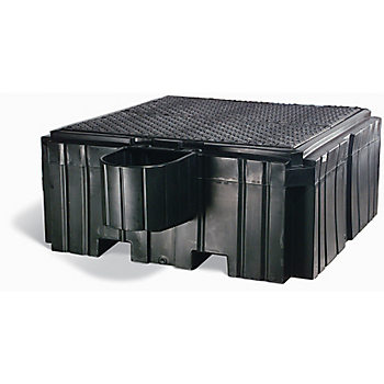 PIG® Poly IBC Containment Unit with Bucket Shelf