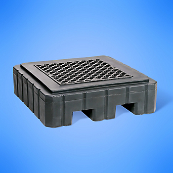 PIG® Heavy-Duty 1-Drum Poly Spill Containment Pallet