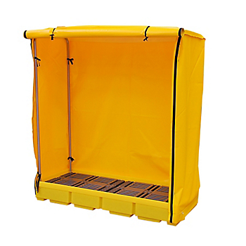 3-Drum Covered Containment Pallet