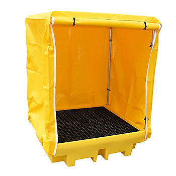PIG® Essentials 4-Drum Covered Containment Pallet