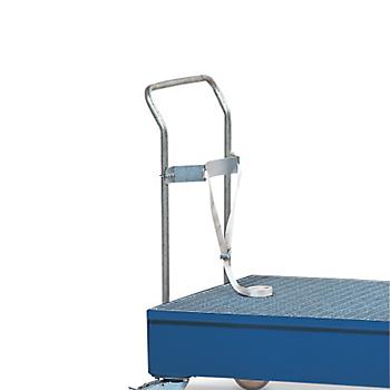 Securing Strap & Rail for Mobile Steel Drum Pallet