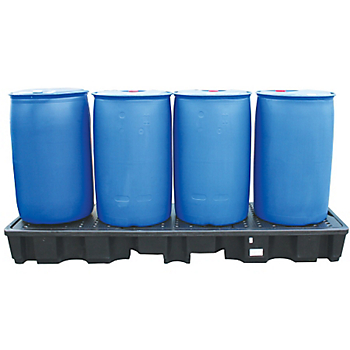 PIG® Essentials 4-Drum InLine Poly Containment Pallet