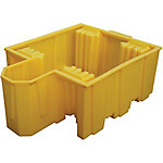 Single IBC Poly Containment Pallet with Integral Dispensing Bucket