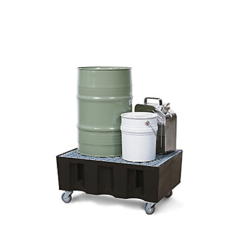 Mobile Poly Sump Trolley with Galvanised Steel Grate