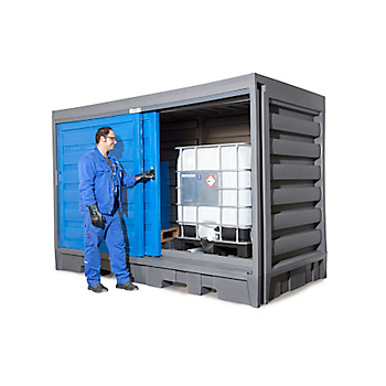 8-Drum / 2-IBC Hard Top Containment Pallet