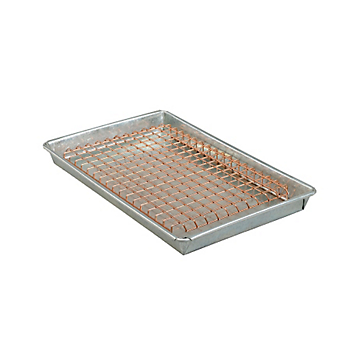 Galvanised Steel Drip Tray with Handles and Mesh Cover