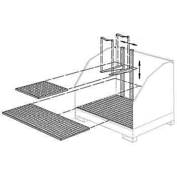 Half Width Grid Shelf