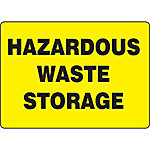 Hazardous Waste Storage Sign
