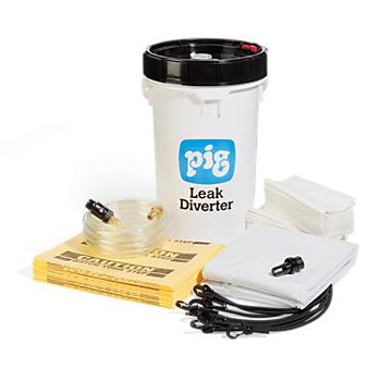 PIG® Leak Diverter Bucket Kit for Roofs